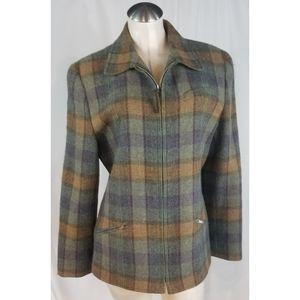 Ralph Lauren Size 14 Multi-color Plaid Coat